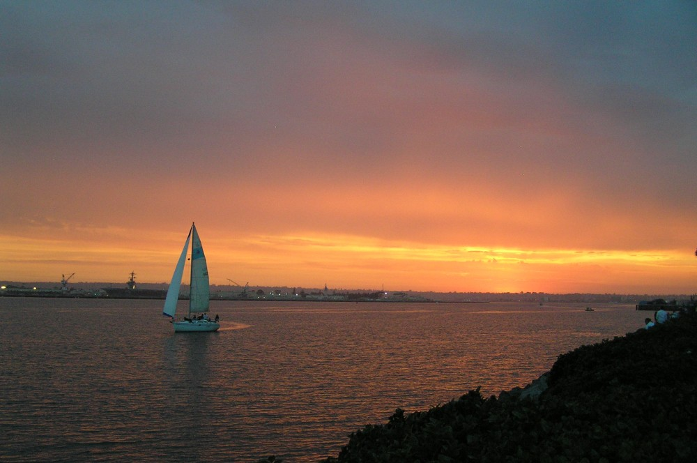 Sunset on the San Diego Bay