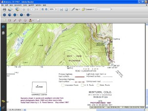 Topographic Map of Minturn