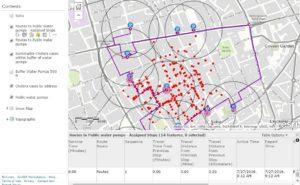 Cholera investigation using ArcGIS Online