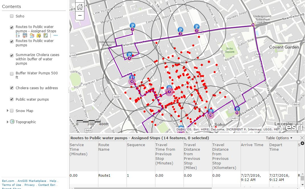 Cholera investigation using ArcGIS Online